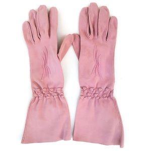 VTG 1950's Gant Madeleine Mauve Italian Gloves 7.5